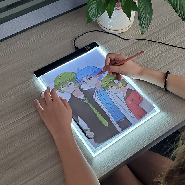 A4 Light Pad A4 Light Board Light Drawing Board Painting Toy Tracer for Drawing Plastic Portable LED Copy Kid's Boys and Girls for Birthday Gifts or Party Favors