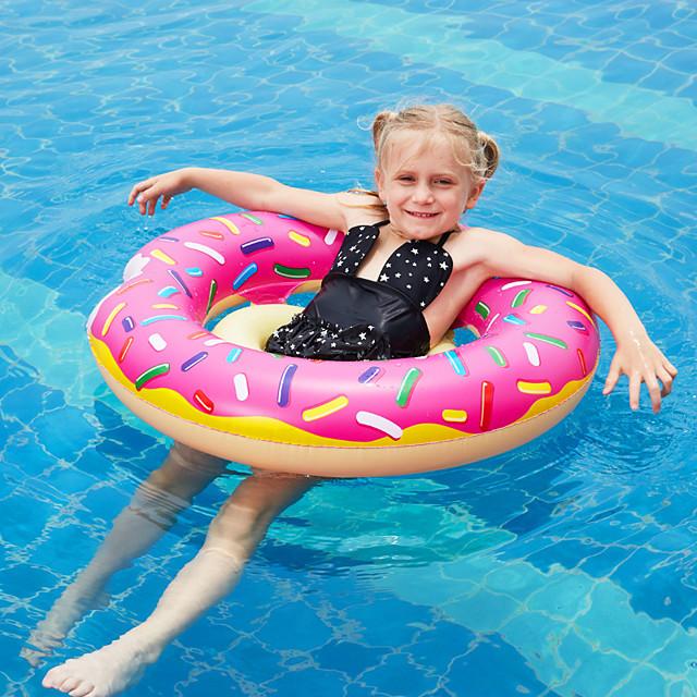 Donut Pool Float Swim Rings Pool Float Pool Floaties Inflatable PVC Summer Vacation Beach Swimming Pool Party Boys' Girls' Kid's