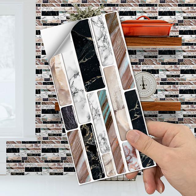 kitchen oil proof wall decoration paste toilet waterproof simulation crystal tile paste wear-resistant floor paste