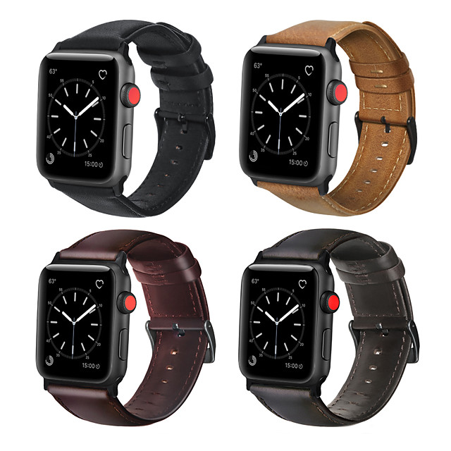 Watch Band for Apple Watch Series 5 / Apple Watch Series 4/3/2/1 Apple Business Band Genuine Leather Wrist Strap