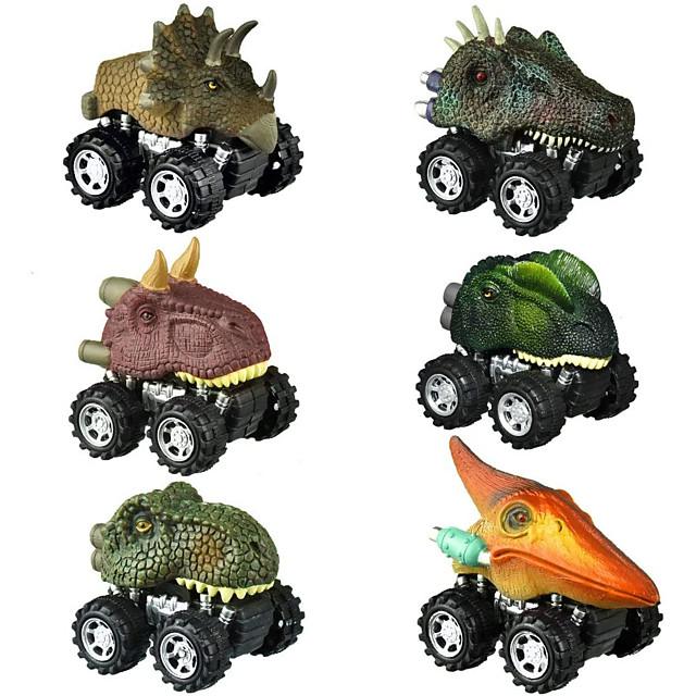 Vehicle Playset Pull Back Car / Inertia Car Jurassic Dinosaur Tyrannosaurus Tyrannosaurus Rex Cute Creative Cool PVC (Polyvinylchlorid) Plastic Mini Car Vehicles Toys for Party Favor or Kids Birthday