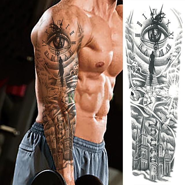 LITBest 3 pcs Temporary Tattoos Ergonomic Design / Classic / Best Quality Body / brachium Paper Tattoo Stickers