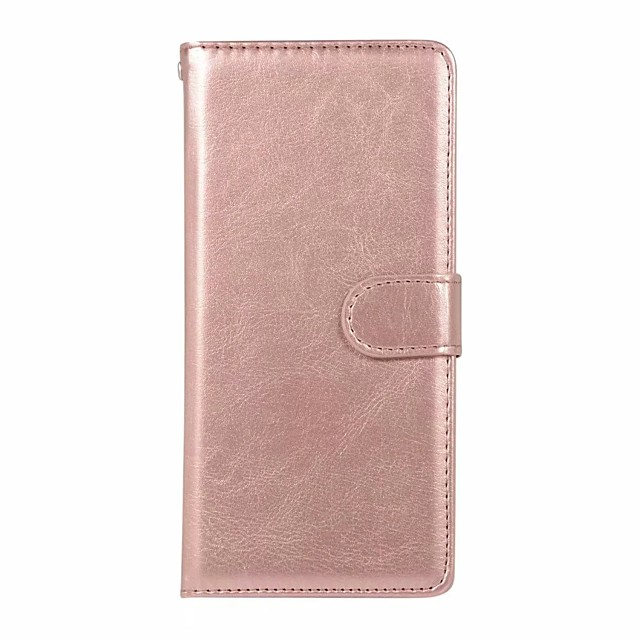 Case For Samsung Galaxy Galaxy S10 / Galaxy S10 Plus / Galaxy S10 E Wallet / Card Holder Full Body Cases Solid Colored PU Leather