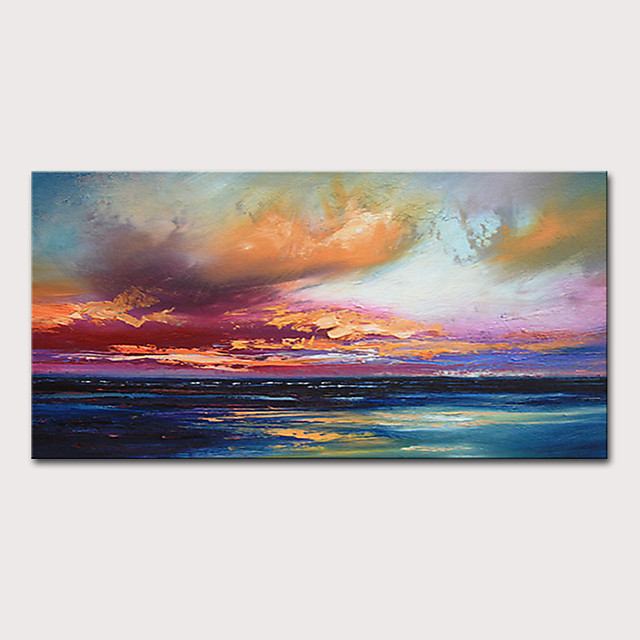 Mintura Hand Painted Modern Abstract Landscape Oil Paintings on Canvas Wall Picture Pop Art Posters For Home Decoration Ready To Hang