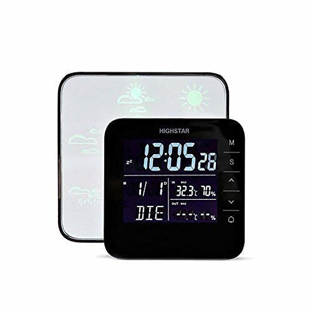 Wireless Weather Forecast StationMultifunctional Indoor Temperature Humidity Meter Tester Thermometer Hygrometer Date Time Alarm Clockfor Comfort of Home and Office