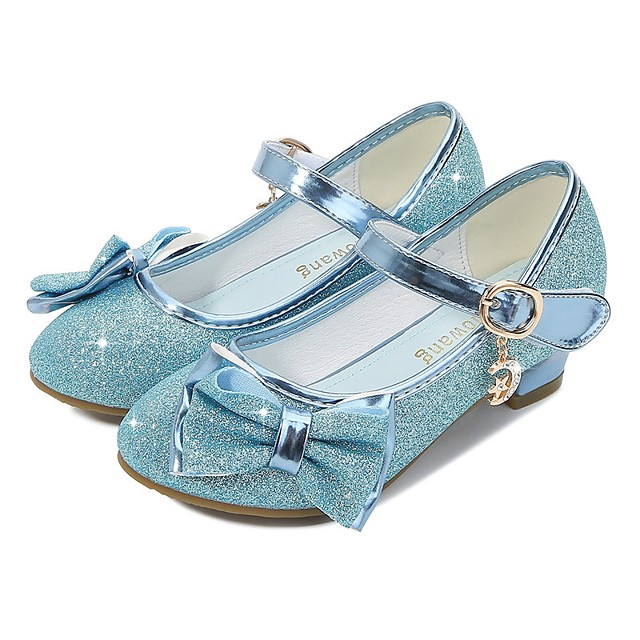 Cinderella Princess Elsa Shoes Girls' Movie Cosplay Sequins Golden / Purple / Pink Shoes Children's Day Masquerade Polyester
