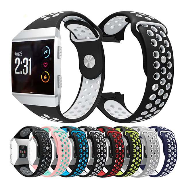 Double Color Sport Silicone Bracelet Watch Band for Fitbit ionic Smart Watch Belt Watachband Sporting Goods Strap Band for Fitbit ionic