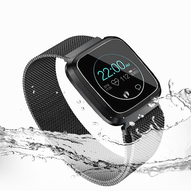 LITBest L18 Men Women Smartwatch Android iOS Bluetooth Waterproof Touch Screen Heart Rate Monitor Blood Pressure Measurement Sports Stopwatch Pedometer Call Reminder Activity Tracker Sleep Tracker