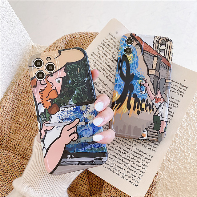 Case For Apple iPhone 11 Pro Max / iPhone XR / iPhone XS Max Shockproof / Dustproof / IMD Back Cover Scenery / Cartoon / 3D Cartoon TPU