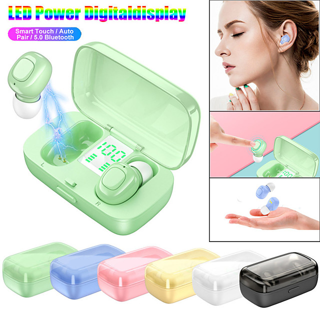 LITBest XG-21 TWS True Wireless Earbuds Bluetooth 5.0 Stereo with Microphone Charging Box Auto Pairing LED Power Display for Travel Entertainment