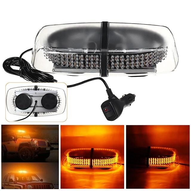240 LED Amber Warning Strobe Lights Recovery Car Flashing Magnetic Beacon Light
