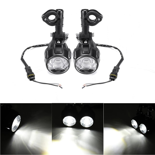 2pcs Spot LED Auxiliary Fog Light Driving Lamp Motorcycle For BMW R1200GS F800GS