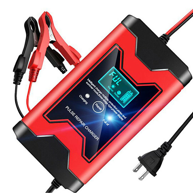 12V 6A automatic car charger intelligent pulse repair charger