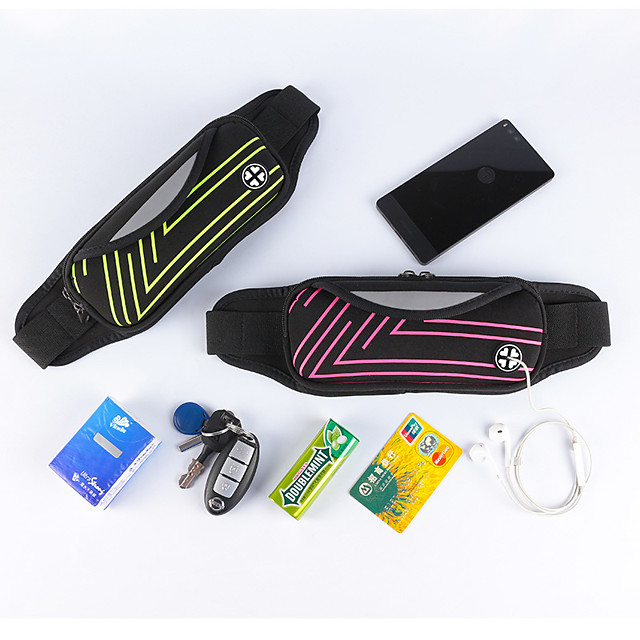 Running Belt Fanny Pack Belt Pouch / Belt Bag for Running Hiking Outdoor Exercise Traveling Sports Bag Reflective Adjustable Waterproof Polyester Men's Women's Running Bag Adults