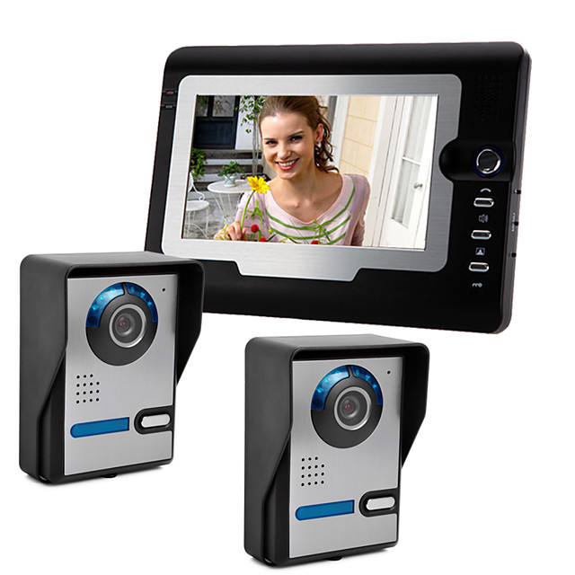 Wired 7 Inch Hands-free 800*480 Pixel Two To One Video Doorphone