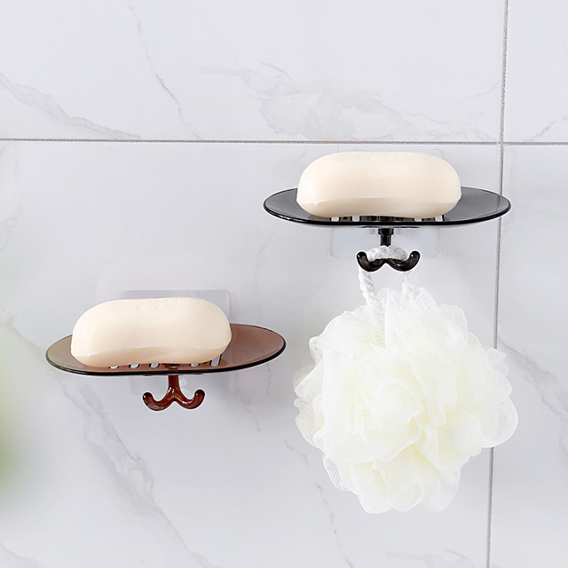 Avoid Punched Hanging Suction Wall-hung Soap Soap Box Of Toilet Soap Box Of Bathroom Soap Box Frame Drop Color Random