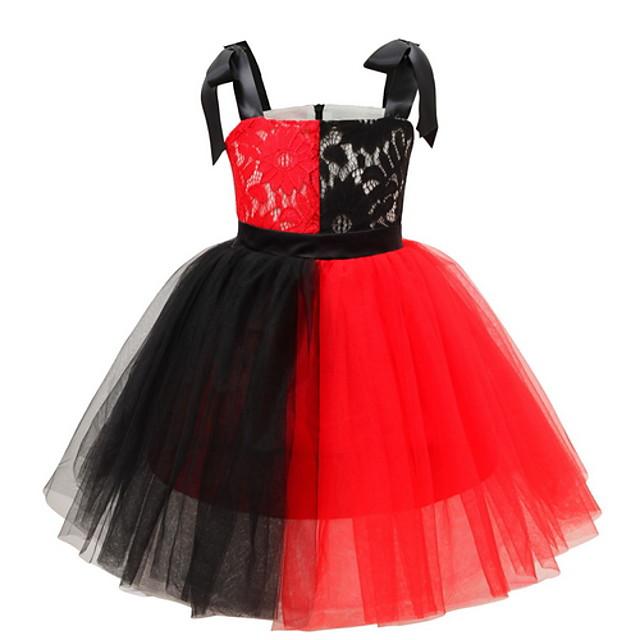 Kids' Dancewear Tutu Dress Dress Bow(s) Ruching Girls' Training Daily Wear Polyester