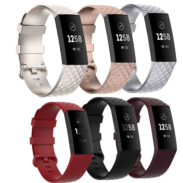 Smartwatch Band for Fitbit Charge 4/ Fitbit charge3 SE / Fitbit Charge3  Fitbit Sport Band High-end Fashion Soft comfortable Health Silicones Wrist Strap