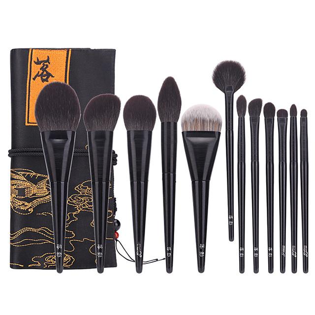 Professional Makeup Brushes 12pcs Professional Soft Full Coverage Wooden / Bamboo for Eyeliner Brush Blush Brush Foundation Brush Makeup Brush Eyeshadow Brush