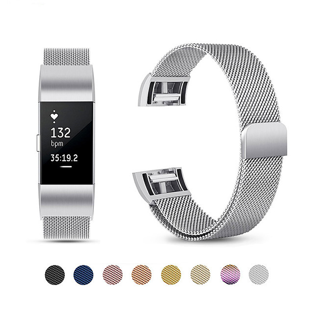 Milanese Magnetic Metal Watch Bands for Fitbit charge 2 Bracelet Milanese Magnetic Strap for Fitbit charge 2