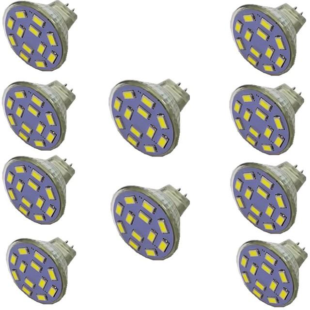 10pcs 2 W LED Spotlight 300 lm MR11 12 LED Beads SMD 5730 Warm White Natural White White 9-30 V
