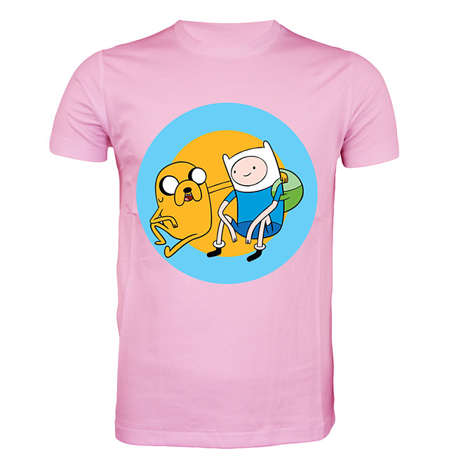 Inspired by Adventure Time Cosplay Costume T-shirt Polyster Print Printing T-shirt For Men's