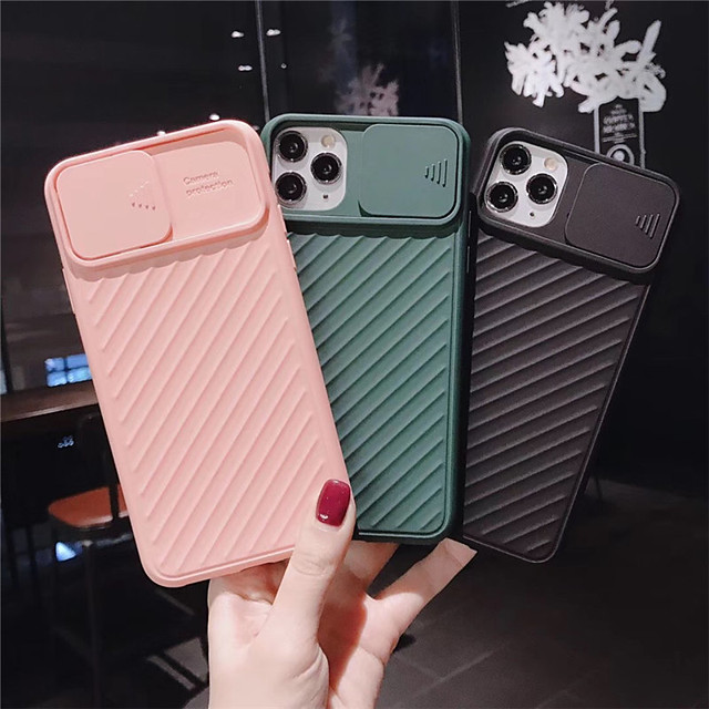 Case For Apple iPhone 11 / iPhone 11 Pro / iPhone 11 Pro Max Shockproof / with Windows Back Cover Solid Colored TPU