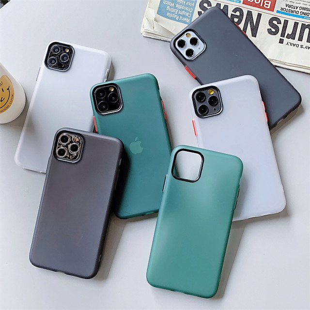 Solid Colored  TPU Case for Apple iPhone 11 Pro Max X XR XS Max 8 Plus 7 Plus 6 Plus SE Multicolor Candy Back Cover