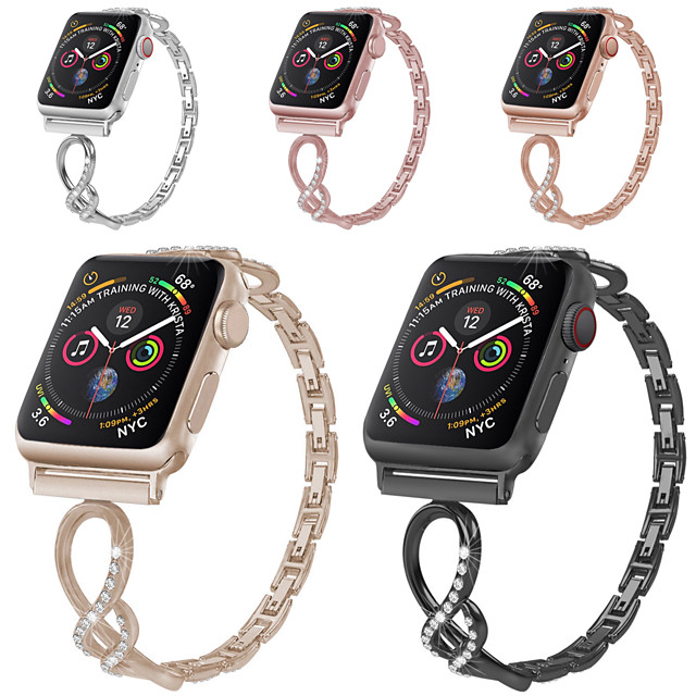 Watch Band for Apple Watch Series 5 / Apple Watch Series 4/3/2/1 Apple Classic Buckle Stainless Steel Wrist Strap