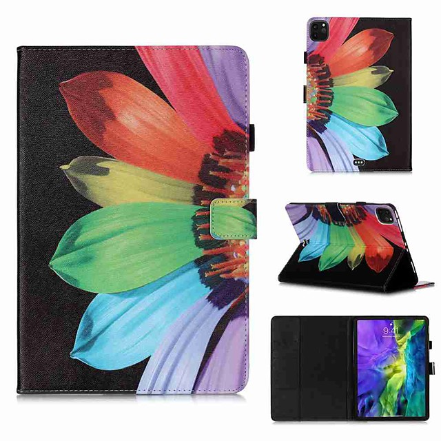 Case For Apple iPad Pro 11''(2020) / iPad 2019 10.2 / Ipad air3 10.5' 2019 Wallet / Card Holder / with Stand Full Body Cases Sunflower PU Leather / TPU for iPad Air / iPad 4/3/2 / iPad (2018)