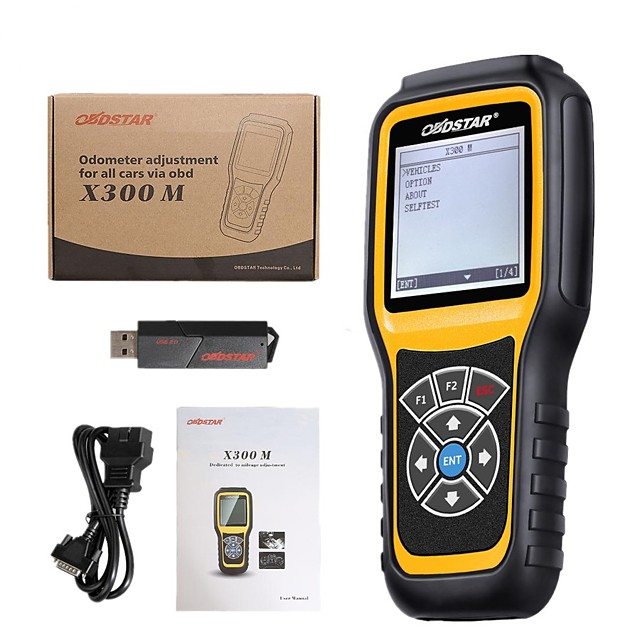 OBDSTAR X300M Odometer Adjustment and OBDII Support For Benz Mileage Correction Tool X300 M Add For Fiat/Volvo and MQB Models