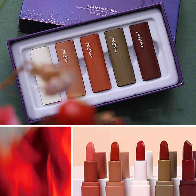 5 pcs 5 Colors Daily Makeup Kits / Rotating / Easy to Carry Matte Long Lasting / Travel / Girlfriend Gift Classic / Sweet Makeup Cosmetic Grooming Supplies