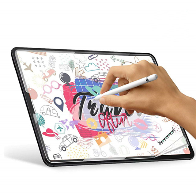 1pc Paperlike Screen Protector for iPad Pro Screen Protector for Apple iPad Air Drawing High Touch Sensitivity Anti Glare Film Compatible with Apple Pencil & Face ID
