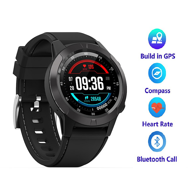 A4 Men Women Smartwatch Android iOS Bluetooth Waterproof Touch Screen GPS Heart Rate Monitor Blood Pressure Measurement Timer Stopwatch Pedometer Call Reminder Activity Tracker