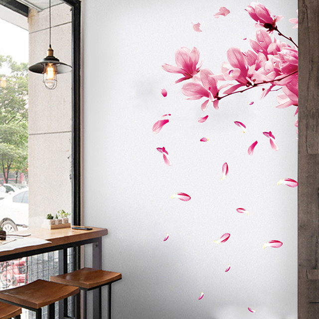 Floral / Botanical Wall Stickers Plane Wall Stickers Decorative Wall Stickers, PVC Home Decoration Wall Decal Wall Decoration 1pc