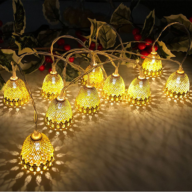 3M 20LEDs Pine Cone Acorn LED String Lights USB Plug-in Fairy Lights Christmas Wedding Garden Party Family Party Room Decoration Light