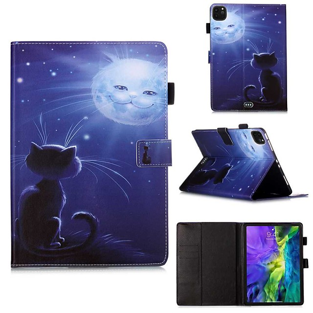 Case For Apple iPad Pro 11''(2020) / iPad 2019 10.2 / Ipad air3 10.5' 2019 Wallet / Card Holder / with Stand Full Body Cases Purple Owl PU Leather / TPU for iPad Air / iPad Air2 / iPad (2018)