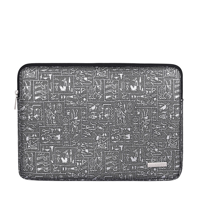 11.6 12 13.3 14 15.6 Inch Laptop Sleeve Polyester Embossing Waterpoof Shock Proof