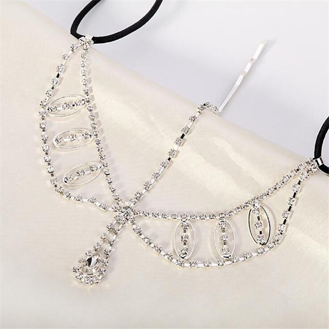 Women's Hair Jewelry For Gift Festival Flower Cord Imitation Diamond White 1pc