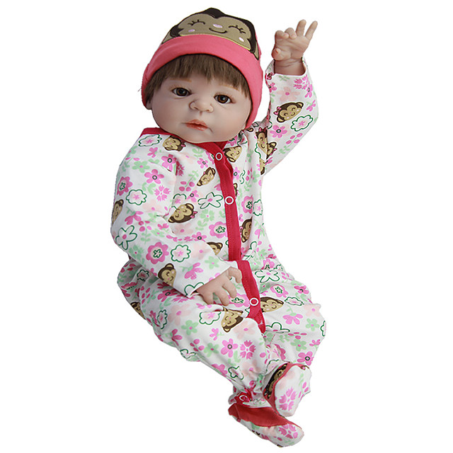 Reborn Baby Dolls Clothes Reborn Doll Accesories Cotton Fabric for 22-24 Inch Reborn Doll Not Include Reborn Doll Monkey Soft Pure Handmade Girls' 3 pcs