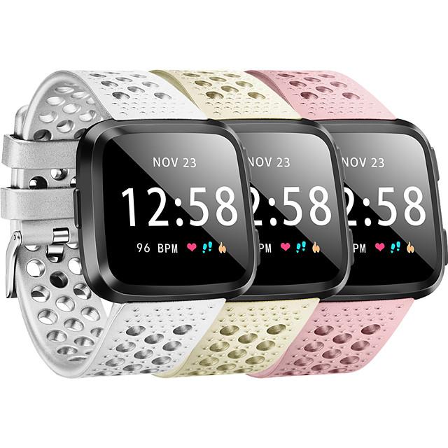 Watch Band for Fitbit Versa / Fitbi Versa Lite / Fitbit  Versa 2 Fitbit Classic Buckle Silicone Wrist Strap
