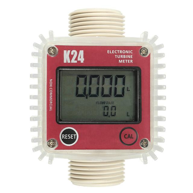 K24 turbo digital flow meter flowmeter Diesel fuel water plomeria flow indicator Turbine Flowmeter caudalimetro sensor Vertical
