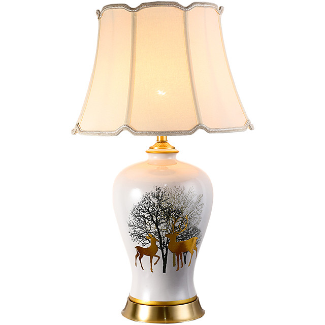 Table Lamp Decorative Traditional / Classic For Living Room / Bedroom Ceramic 200-240V / 100-120V