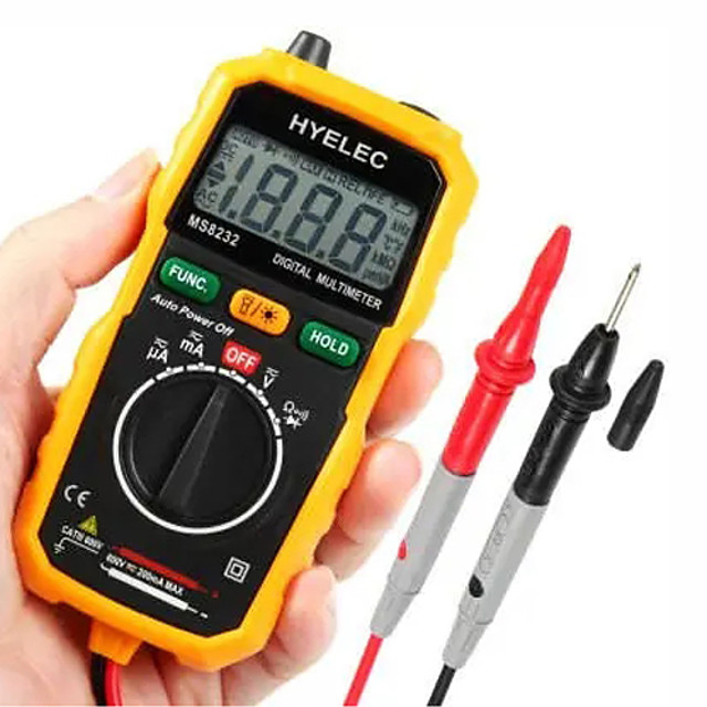 MS8232 Portable Digital Multimeter Non-Contact DC AC Voltage Current Tester Meter Auto Power off