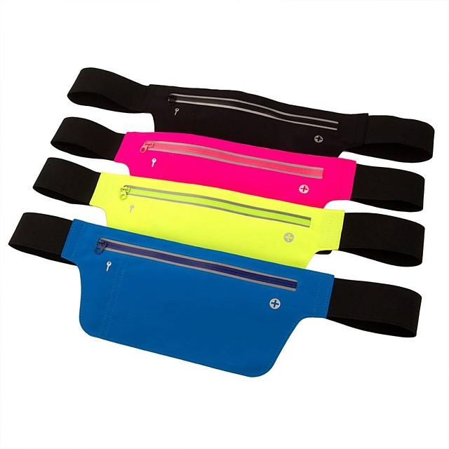 Running Belt Fanny Pack Belt Pouch / Belt Bag for Running Hiking Outdoor Exercise Traveling Sports Bag Adjustable Waterproof Portable Polyester Lycra® Men's Women's Running Bag Adults