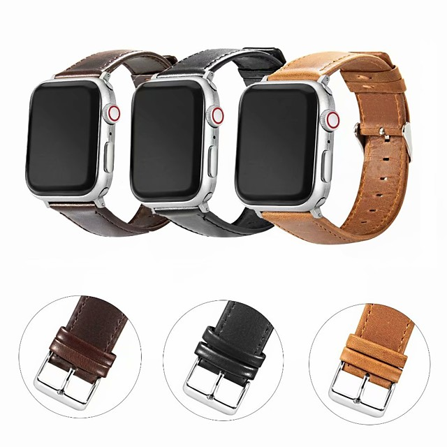 Watch Band for Apple Watch Series 5 / Apple Watch Series 4 / Apple Watch Series 4/3/2/1 Apple Modern Buckle / Business Band Genuine Leather Wrist Strap