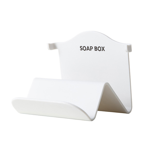 Hyperbolic Soap Shelf Holder Creative Wall Mounted Soap Box Bathroom Punch-free Sponge Storage Rack Home Organizer Color Random
