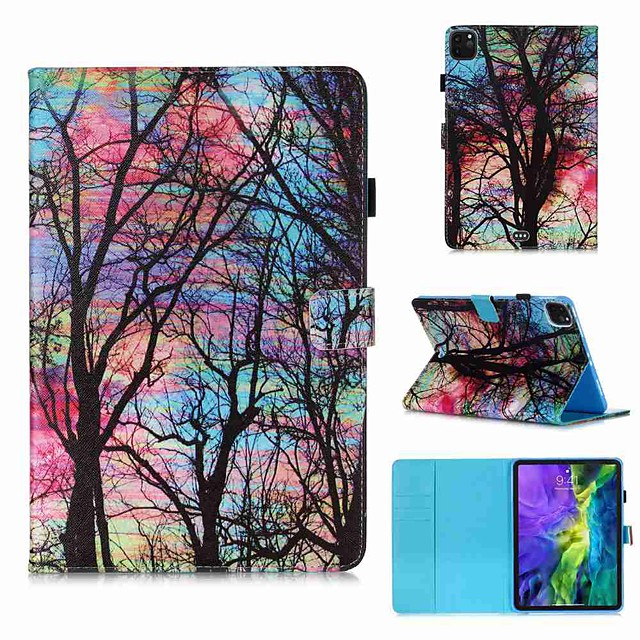 Case For Apple iPad Pro 11''(2020) / iPad 2019 10.2 / Ipad air3 10.5' 2019 Wallet / Card Holder / with Stand Full Body Cases Color Tree PU Leather / TPU for iPad Air / iPad 4/3/2 / iPad (2018)
