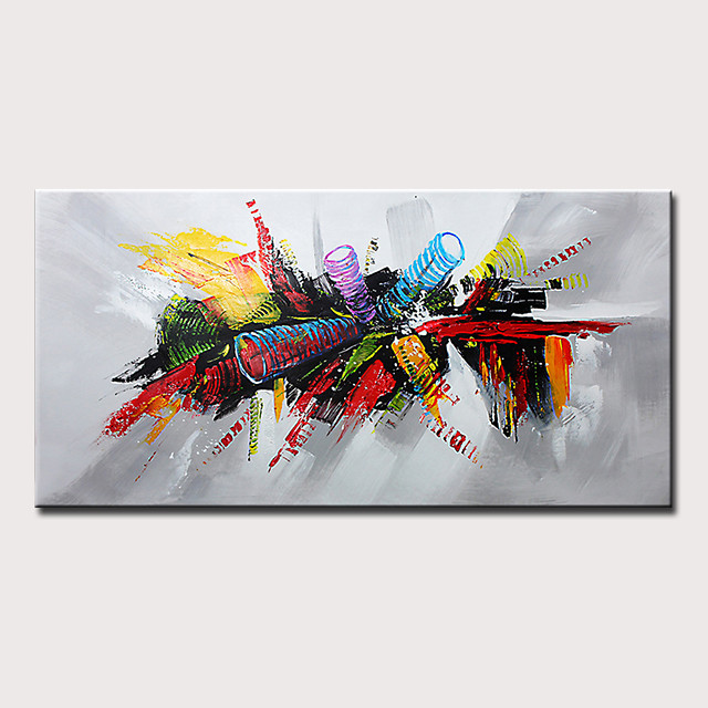 Mintura Hand Painted Modern Abstract Oil Paintings on Canvas Wall Picture Pop Art Posters For Home Decoration Ready To Hang With Stretched Frame