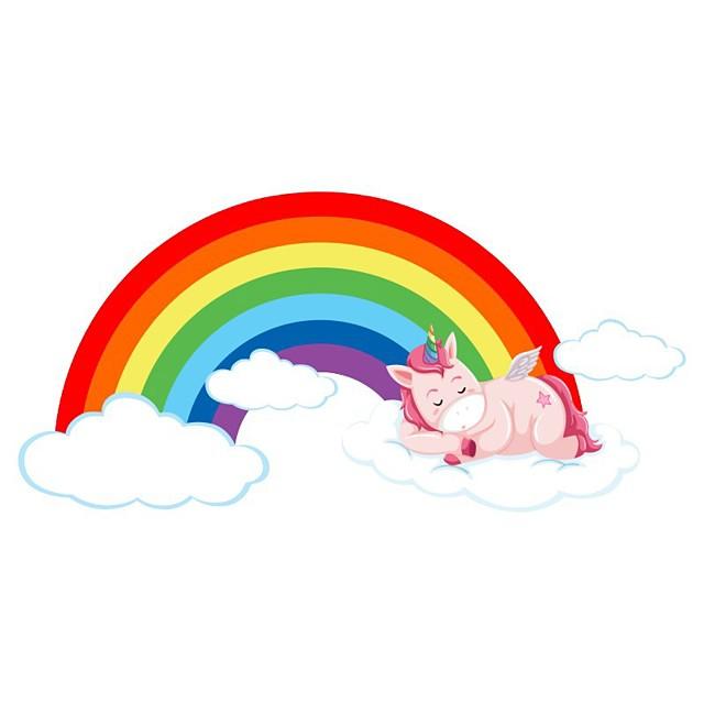 Unicorn Rainbow Decorative Wall Stickers - Plane Wall Stickers Nursery / Kids Room